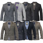 Mens Wool Mix Slim Fit Tweed Blazer Jacket By Cavani