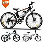 36V 26Foldable Electric Mountain Bike Bicycle Ebike W Lithium Battery 250W