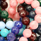 8mm Faceted Round Agate Semi-precious Gemstone Beads for Jewellery Making