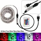 50-500CM USB LED Strip Light TV Back Lamp 5050RGB Colour Changing+Remote Control