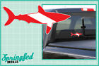 SHARK Shaped DIVE Flag Vinyl Decal #1 Car Truck Sticker SCUBA Diving Decal