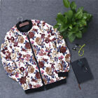 men's fashion stand collar floral jacket casual flower printed jackets coats