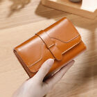 Womens Leather Clutch Trifold Wallet ID Card Purse Money Clip Billfold Notecase