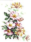 Pink Honeysuckle Bouquet Spray Select-A-Size Waterslide Ceramic Decals Bx