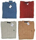 Polo Ralph Lauren Mens RL Silk Cable Knit Crew Neck Ivy League Pony Logo Sweater