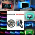 5050 Bright LED 1/2/3/4/5M USB LED STRIP LIGHT TV BACK LIGHT RGB COLOUR CHANGING