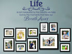 "Vinyl Wall Quote ""Moments That Take Our Breath Away..""Wall Sticker, Modern Decal"