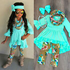 Toddler Kids Baby Girls Floral Long Sleeve Tops Blouse Pants Outfits Set Clothes