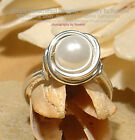 LOVELY WHITE PEARL 925 SILVER RING - All Sizes