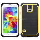 NEW LOT Hybrid Rugged Rubber Matte Hard Case for Android Samsung S5 100+SOLD