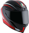 AGV Adult Motorcycle Full Face Corsa 7 Black/Red Helmet Clear Shield S-2XL