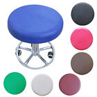 Chic Stool Cover Round Chair Cover Pure Color Pratical Home Decor Easy Clean