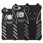 R-Just  Shockproof Metal Bumper Armor Hard Back Case Cover For iPhone X 8 7 Plus