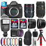 Canon EOS 5DS DSLR + 24-105mm + Tamron 70-300mm + Slave Flash - 48GB Kit