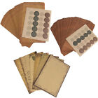 50x Vintage Kraft Paper Envelopes Lace Decor Writing Stationary Paper Sets Gift
