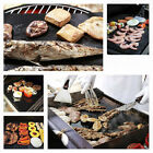 Non-Stick Surface Reusable Easy Clean BBQ Cooking Baking Heating Grill Mat
