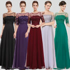 Women Lace Long Formal Cocktail Dress Evening Ball Gown Party Dress 08459