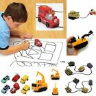 Follow Any Drawn Line Magic Pen Inductive Toy Car Truck Engineering Model W/ Pen