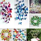 3d Butterfly Design Stick Stickers Home Room Decor Art Decal Wall Magnetic 12pcs