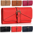 NEW Medium Ladies Girls Purses Coin Card Buckle Faux Leather women Wallets Bags