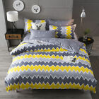 Gray Yellow Bedding Pillowcase Quilt Cover Duvet Cover Set Twin Queen King Size