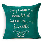 "18"" Funny Words Art Cotton Linen Cushion Cover Throw Pillow Case Home Decor"