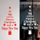 Merry Christmas Happy New Year Wall Stickers Vinyl Decal Window Removable Decor