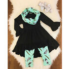 2pcs Toddler Kids Baby Girl Outfit Long Sleeve T-shirt Tops+Leggings Clothes Set