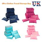 6Pcs Set Packing Cubes Travel Luggage Organizer Zipped Clothes Storage Bag Pouch