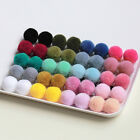 100pcs Fluffy Craft Pom Poms Balls Wool 20mm Diamet Handmade DIY