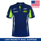 Polo Oficial VR46 T Shirt Valentino Rossi 46 MotoGP YAMAHA The Doctor Cotton US