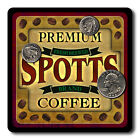 Spotts Family Name Drink Coasters - 4pcs - Wine Beer Coffee & Bar Designs