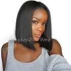 180% Density Bob Wigs Lace Front Brazilian Pre Plucked Wig With Baby Hair Short