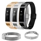 Milanese Stainless Steel Wrist Band Mesh Bracelet Strap Clasp For Fitbit Alta image