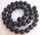 Matte Black Agate Round Loose Beads 8mm 10mm 12mm 15""