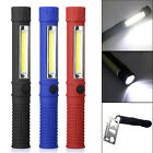LED COB Pocket Pen Inspection Work Light Magnetic Flashlight Torch with Clip