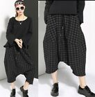 TREND PUNK VISUAL COTTON LEG 58327 ELASTIC PANTS BLACK
