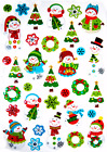 GINGERBREAD * SNOWMAN CHRISTMAS CARD CRAFTS PUFF STICKERS FAST USA SHIPPING! #44