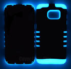 Glow in the Dark Full Body Impact Shock Proof Case Armor Cover for Cell Phones