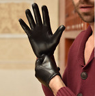 men short classic casual first grade reaI Italy real leather lambskin gloves