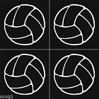 4 VOLLEYBALL Stickers Sticker/Decal volley ball