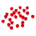 50 Pcs Red Twisted Cut Faceted Crystal Glass Jewelry Making Spacer Beads 6-10mm