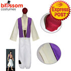 K470 Mens Aladdin Arabian Prince Jasmine Genie Cosplay Anime Shiek Arab Costume