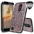 For LG Rebel 2 LTE Magnetic Case Cover+Black Tempered Glass Screen Protector