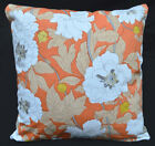 LF801a White Daisy on Orange High Quality Cotton Canvas Cushion/Pillow Cover