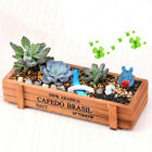 Vintage Wood Garden Flower Planter Succulent Pot TroughRectangle Box Plant wow