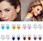 Women Reindeer Deer Antler Crystal Ear Studs Cuff Earring Christmas Gift 7 Color