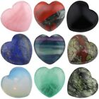 Carved Puff Heart Palm Pocket Love Worry Stone Crystal Healing Balancing 0.8""