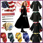 Unisex Harry Potter Robe Cape Cosplay Costume Adult Kids Cloak/Tie /Scarf/Wand