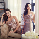 Ever-Pretty Shiny Sequins Bridesmaid Dress Long Evening Party Rose Gold 07087